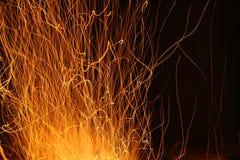 Chispas y fuego Fotografía de archivo libre de regalías