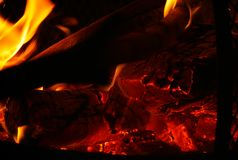 Chispas y fuego Foto de archivo libre de regalías