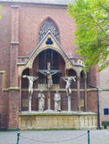 Chist monument in dusseldorf Royalty Free Stock Photos