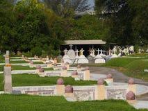 Chistian and buddhist ,chinese graveyard Stock Image
