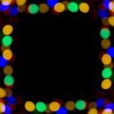 Chistmas świateł granica Obraz Stock