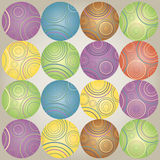Chistmas background with color circles. The bright background with colorful spheres Stock Photo