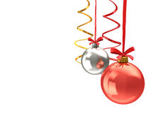 Chistmas balls background Stock Photos