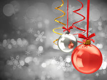 Chistmas balls background Royalty Free Stock Images