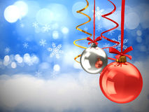 Chistmas balls background Stock Images