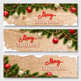 Chistmas banners set Royalty Free Stock Images