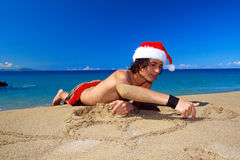 Chistmas on beach Royalty Free Stock Images