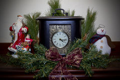Chistmas Clock Royalty Free Stock Photos