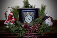 Chistmas Clock Royalty Free Stock Photos