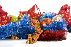 The Chistmas decorations. The heap of christmas decorations Stock Image