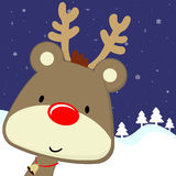 Chistmas deer background Stock Image