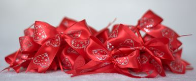 Chistmas Gift bows. Stock Photo