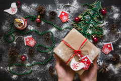 Chistmas gift royalty free stock photo