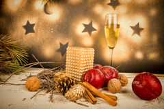Chistmas holiday arrangement Royalty Free Stock Image