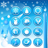 Chistmas Icons Set Stock Images