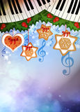 Chistmas music background Royalty Free Stock Photos