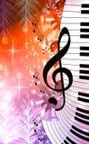Chistmas music background stock illustration