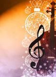 Chistmas music background Royalty Free Stock Photo