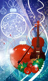 Chistmas music background Stock Photos
