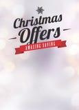 Chistmas oferta i sprzedaży ogłoszenia tło Obrazy Royalty Free