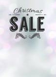 Chistmas oferta i sprzedaży ogłoszenia tło Fotografia Stock