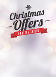 Chistmas offer and sale advert background. Advent or christmas offer and sale advert poster or flyer background with empty space Royalty Free Stock Images