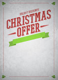 Chistmas offer and sale advert background Royalty Free Stock Images