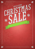Chistmas offer and sale advert background Royalty Free Stock Photography