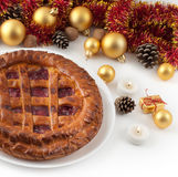 Chistmas pie royalty free stock photos