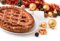 Chistmas pie Stock Image