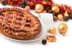 chistmas pie Στοκ Εικόνα