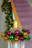Chistmas Staircase Royalty Free Stock Photography