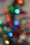 Chistmas tree lights bokeh Stock Images