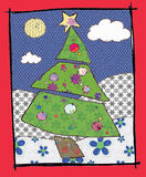 The chistmas tree in patchwork Royalty Free Stock Photos