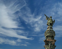 Chistopher Columbus monument in Barcelona Stock Photos