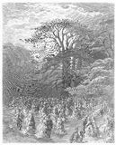 A Chiswick fete -. Picture from Gustave Dore's London: a Pilgrimage illustrated book published in 1873, London - UK Royalty Free Stock Image