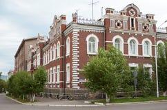 Chita, RU - 20 de julho de 2014: O apartamento comercial da família de Bergut, foi construído em 1907 Foto de Stock