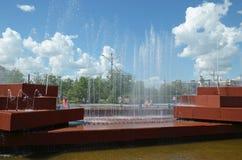 Chita, RU - Jul17 2014: City fountain in the central square of Chita Stock Image