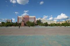 Chita, RU - Jul17 2014: Lenin Square - the central square in Chita, Transbaikalia edge Royalty Free Stock Photo