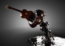 Chitarra in acqua Immagine Stock