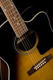 Chitarra acustica Fotografie Stock Libere da Diritti