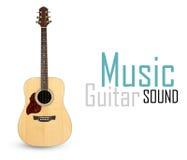 Chitarra acustica Immagine Stock