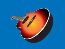 Chitarra acustica illustrazione di stock