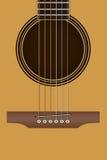 Chitarra acustica, chitarra piega Immagine Stock Libera da Diritti