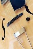 Chitarra acustica dei semi fotografia stock