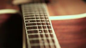 Chitarra acustica sulla fase video d archivio
