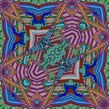 Chitarra astratta di colori - musica di arte di ispirazione illustrazione di stock