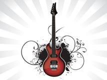 Chitarra astratta di musica con grunge Immagini Stock Libere da Diritti