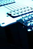 Chitarra blu Fotografie Stock Libere da Diritti