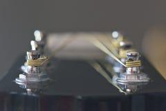 Chitarra capa con i sintonizzatori d'argento Immagine Stock